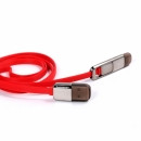 Cable Charger iPhone5/5s/6/Micro(1M,Trans,หอม) - Red