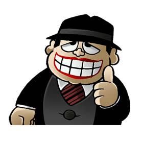 สติ๊กเกอร์ไลน์ชุด Laughing Salesman