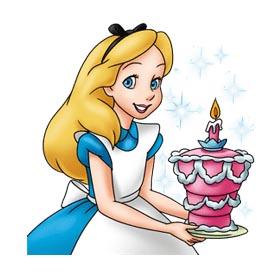 สติ๊กเกอร์ไลน์ชุด Alice in Wonderland