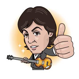 สติ๊กเกอร์ไลน์ชุด Paul McCartney