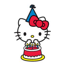 สติ๊กเกอร์ไลน์ชุด Hello Kitty, Hello USA!