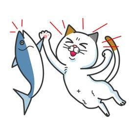 สติ๊กเกอร์ไลน์ชุด DHC Cat Yoshiko Tamagawa: Mega-Sized