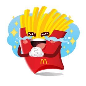 สติ๊กเกอร์ไลน์ชุด McDonald's i'm lovin'it