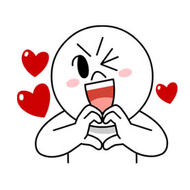 สติ๊กเกอร์ไลน์ชุด LINE Characters in Love!