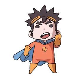 สติ๊กเกอร์ไลน์ชุด ฮีโร่พลังคิด (Hero Palungkid)