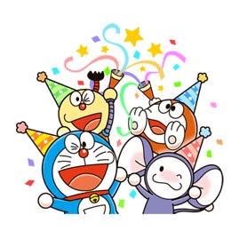 สติ๊กเกอร์ไลน์ชุด Doraemon & Friends (Fujiko F.Fujio)