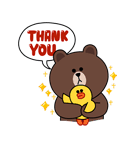 Brown Thank You