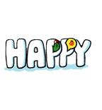 Sticker Line HAPPY