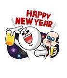 Sticker Line HAPPY NEW YEAR