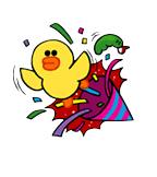 Sticker Line Sally New Year 2014