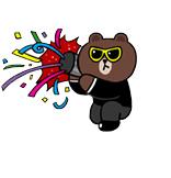 Sticker Line Brown New Year 2014