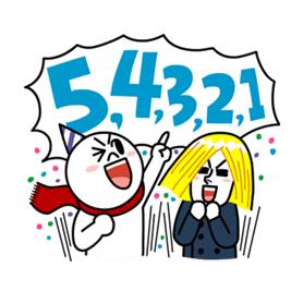 สติ๊กเกอร์ไลน์ชุด LINE Happy New Year!