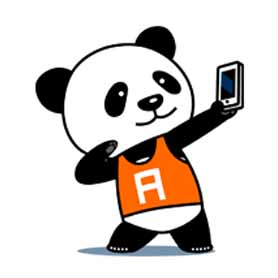 สติ๊กเกอร์ไลน์ชุด Panda-Ichiro fromA