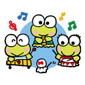 สติ๊กเกอร์ไลน์ชุด KEROKEROKEROPPi (Friends)
