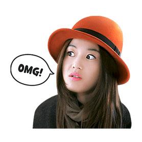 สติ๊กเกอร์ไลน์ชุด Jeon Ji-Hyun Special (อังกฤษ)