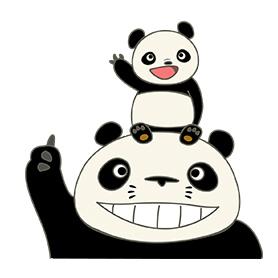 สติ๊กเกอร์ไลน์ชุด pandakopanda
