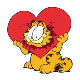 สติ๊กเกอร์ไลน์ชุด Garfield In Love