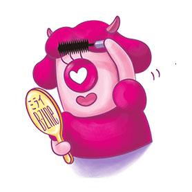 สติ๊กเกอร์ไลน์ชุด Momomi - A Monster From Mirai B - zine
