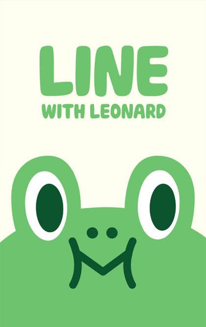 สติ๊กเกอร์ไลน์ชุด Leonard (ธีมไลน์กบเขียว)