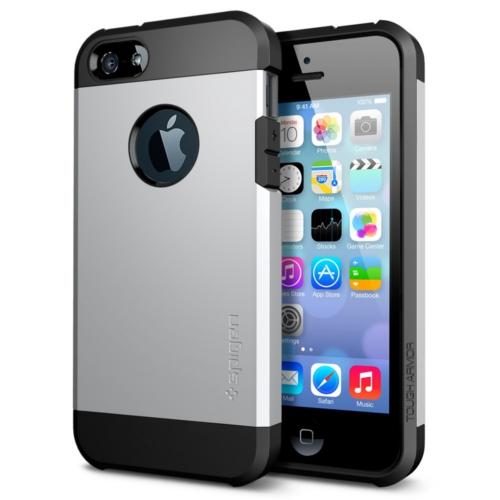 สติ๊กเกอร์ไลน์ชุด iPhone5S/5 Case Tough Armor (Satin Silver)