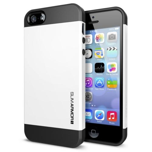 สติ๊กเกอร์ไลน์ชุด iPhone5S/5 Case Slim Armor S (Smooth White)