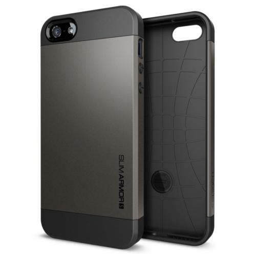 สติ๊กเกอร์ไลน์ชุด iPhone5S/5 Case Slim Armor S (Gun Metal)