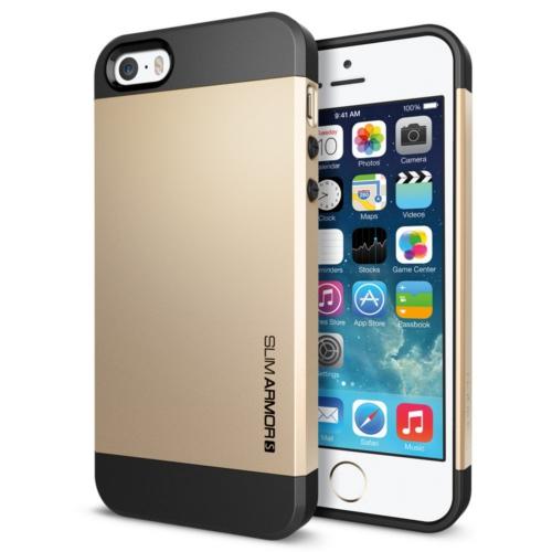 สติ๊กเกอร์ไลน์ชุด iPhone5S/5 Case Slim Armor S (Champagne Gold)