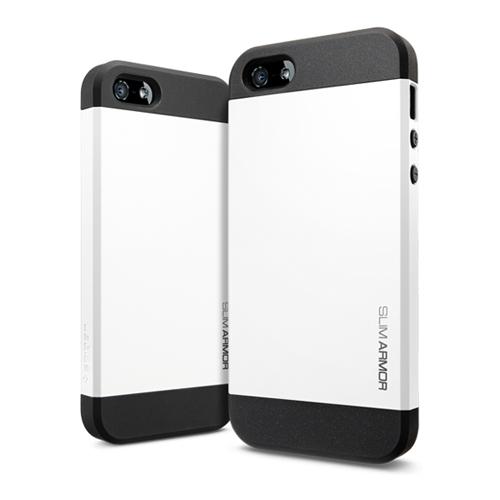 สติ๊กเกอร์ไลน์ชุด iPhone5S/5 Case Slim Armor Frame (Smooth White)