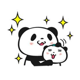 สติ๊กเกอร์ไลน์ชุด Shopping Panda