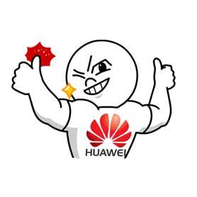 สติ๊กเกอร์ไลน์ชุด Huawei's Work Hard Play Harder with Moon