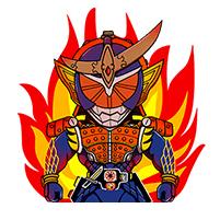 สติ๊กเกอร์ไลน์ชุด Masked Riders Assemble!