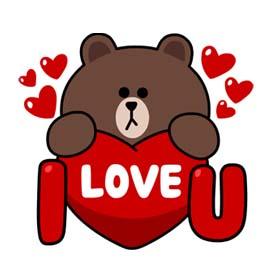 สติ๊กเกอร์ไลน์ชุด LINE characters : Love U