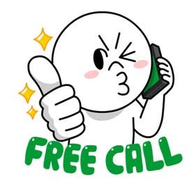 สติ๊กเกอร์ไลน์ชุด (Free Gift) LINE friends, Call me!