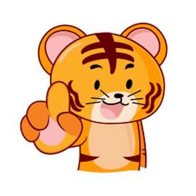 สติ๊กเกอร์ไลน์ชุด Tiggy Tiger WWF