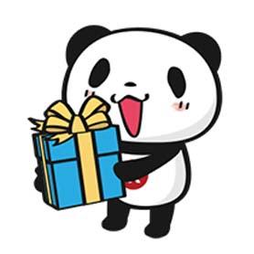 สติ๊กเกอร์ไลน์ชุด Happy panda