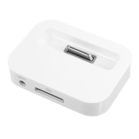 สติ๊กเกอร์ไลน์ชุด แท่นชาร์จสีขาว iPhone 4/4S