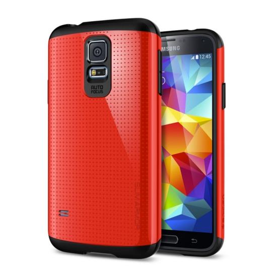 สติ๊กเกอร์ไลน์ชุด Galaxy S5 Case Slim Armor สีแดง