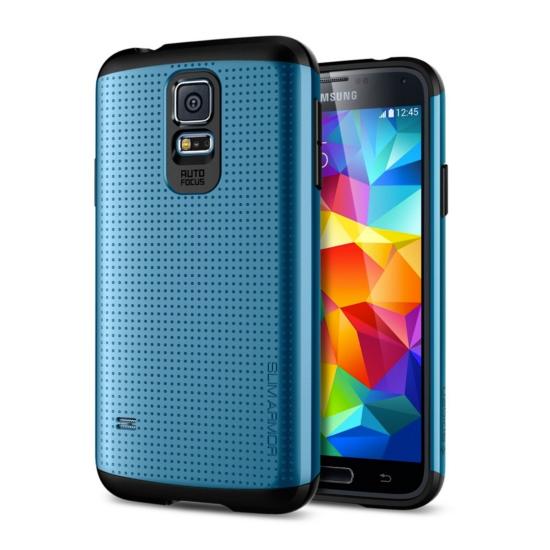 สติ๊กเกอร์ไลน์ชุด Galaxy S5 Case Slim Armor : สีน้ำเงิน