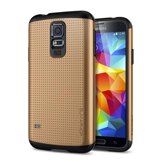สติ๊กเกอร์ไลน์ชุด Galaxy S5 Case Slim Armor : สีทอง