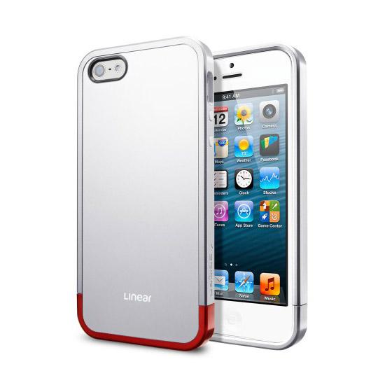 สติ๊กเกอร์ไลน์ชุด iPhone5S/5 Case Linear Metal (Satin Silver)