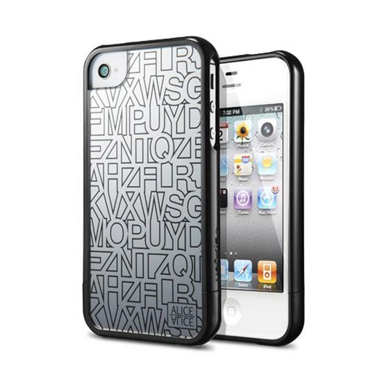 สติ๊กเกอร์ไลน์ชุด iPhone 4 / 4S Case Linear Mirror Series (Alice Bla