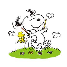 สติ๊กเกอร์ไลน์ชุด Snoopy Day Out (Pocky)