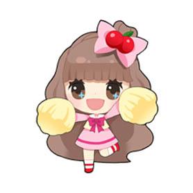 สติ๊กเกอร์ไลน์ชุด LINE PLAY Cherrys Sweet Day