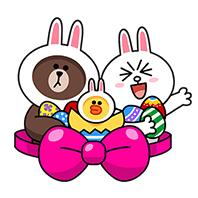 สติ๊กเกอร์ไลน์ชุด LINE Characters: Happy Easter