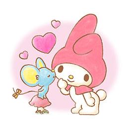 สติ๊กเกอร์ไลน์ชุด My Melody: Sweet Story