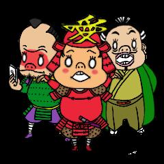สติ๊กเกอร์ไลน์ชุด Japanese samurai