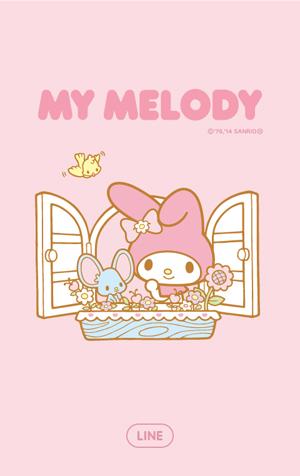 สติ๊กเกอร์ไลน์ชุด My Melody (ธีมไลน์มายเมโลดี้ )