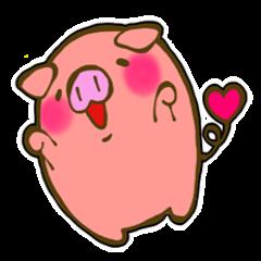 สติ๊กเกอร์ไลน์ชุด cute pig