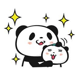 สติ๊กเกอร์ไลน์ชุด Rakuten TARAD.com : HAPPY Panda