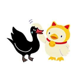 สติ๊กเกอร์ไลน์ชุด Black Swan Ver.3
